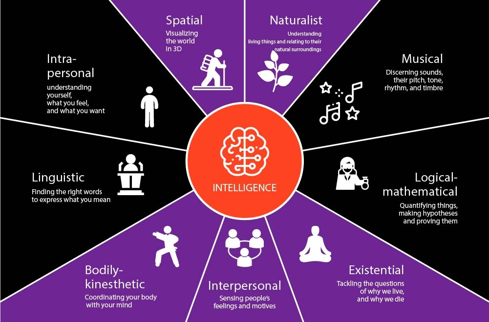 Definitions of the types of intelligence