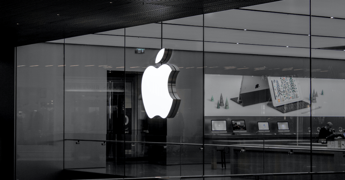 Front of an Apple store
