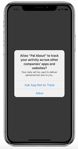 Screenshot of new Apple privacy update